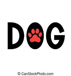 Dog. Paw print.