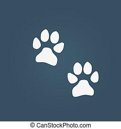 dog paw prints vector icon