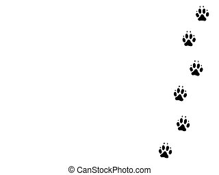 Dog pawprints 1 - Design of black dog pawprints