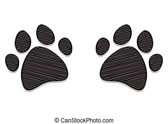 Dog Paws Isolated on White
