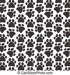 Dog Paws Pattern / Texture