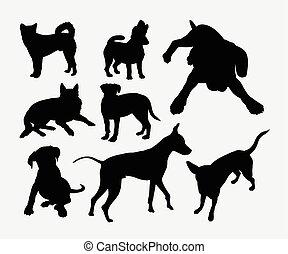Dog pet animal silhouette 4