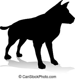 Dog Pet Animal Silhouette - An animal silhouette of a pet...