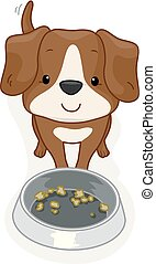 Dog Pet Food Illustration
