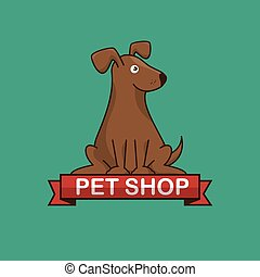 dog pet shop icon