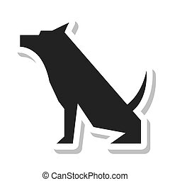 dog pet silhouette isolated icon