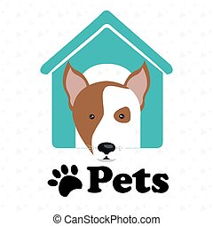 dog pets house icon