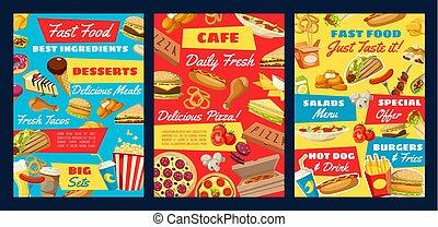 dog, pizza, voedingsmiddelen, hamburger, bakken, warme, vasten, chicken