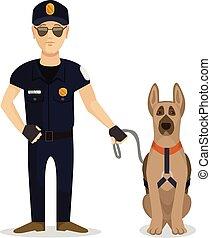 dog, politieagent
