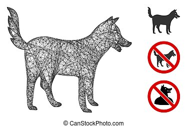 Dog Polygonal Web Vector Mesh Illustration