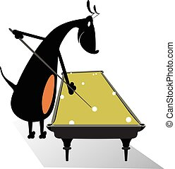 Dog pool player
