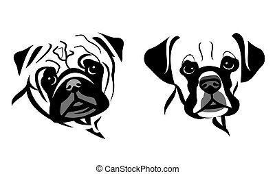 Dog Portrait Line Art
