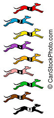 Dog race - Creative design of dog race