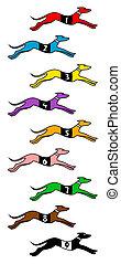 Dog race - Creative design of dog race