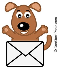 dog received a letter