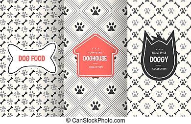 Dog seamless pattern background. Vector illustration for animal pet design
