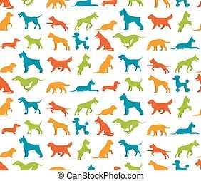 Dog seamless pattern