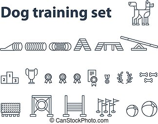 Dog show exhibition event icons
