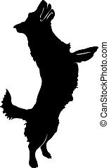 dog., silhouette, illustration, vecteur