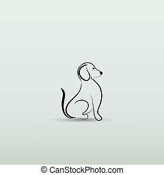 Dog silhouette logo vector