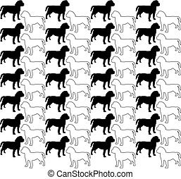 Dog Silhouette pattern
