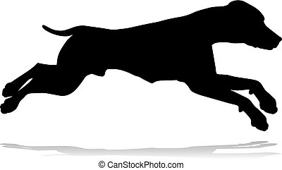 Dog Silhouette Pet Animal - A detailed animal silhouette of...
