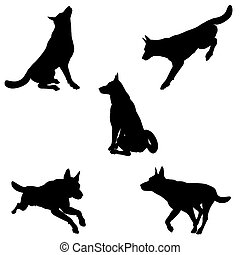 Dog Silhouettes - 1