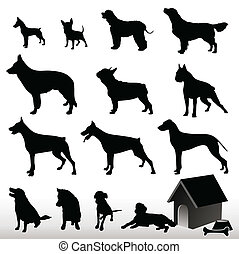 Dog Silhouettes - Vector