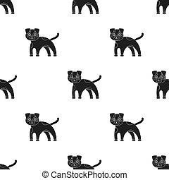 Dog single icon in black style.Dog, vector symbol stock illustration web.