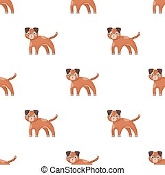 Dog single icon in cartoon style.Dog, vector symbol stock illustration web.