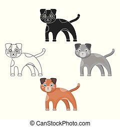 Dog single icon in cartoon,black style.Dog, vector symbol stock illustration web.