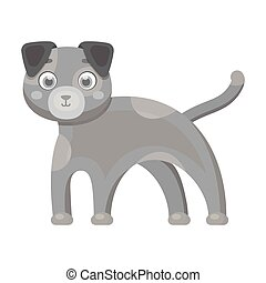 Dog single icon in monochrome style.Dog, vector symbol stock illustration web.