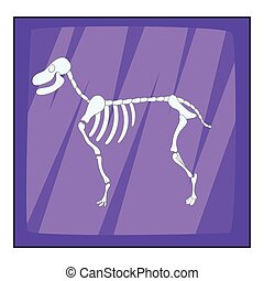 Dog skeleton icon, cartoon style - Dog skeleton icon....