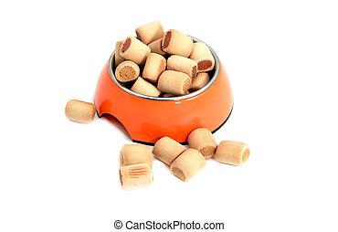 dog snacks in bowl