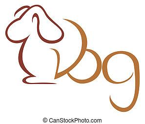 Dog symbol - Illustration of dog isolated on white