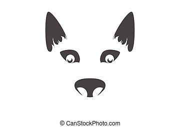dog symbol on white background