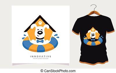 dog t-shirt design, Stock Photos and Vectors