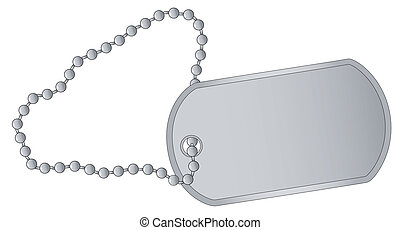 Dog Tag - A military style dog tags with chain.