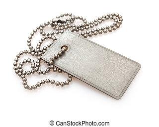Dog Tag - Shiny Blank Metallic Military Identification Plate...