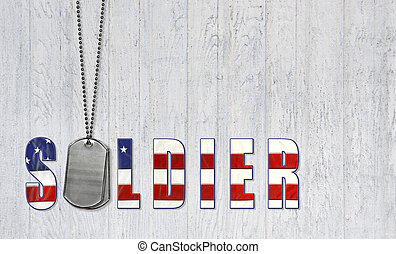 dog tags for honoring soldier