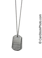 dog tags on white - Military dog tags isolated on white.