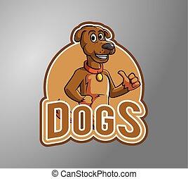 Dog thumb up illustration