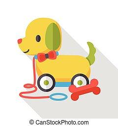 dog toy flat icon