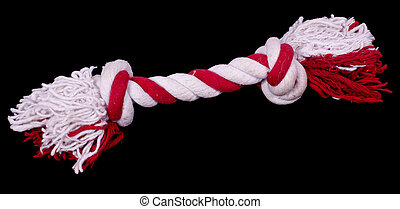 Dog toy, rope with knots