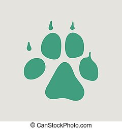 Dog trail icon