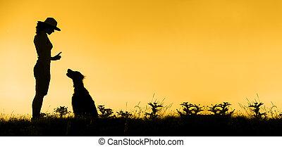 Dog training banner - Website banner of dog training...