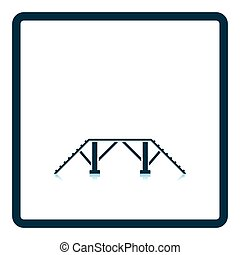 Dog training bench icon