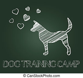 Dog Training Camp Shows Instruction Taught And Canine - Dog...