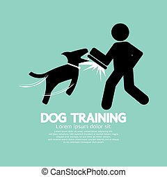 Dog Training Graphic Symbol.