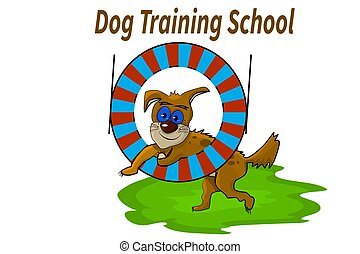 Dog Training School or club banner. Education concept, dog training conceptual.